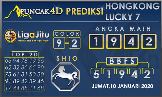 PREDIKSI TOGEL HONGKONG LUCKY7 PUNCAK4D 10 JANUARI 2020