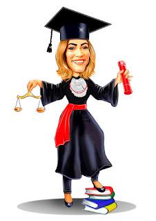 caricatura de formanda em direito