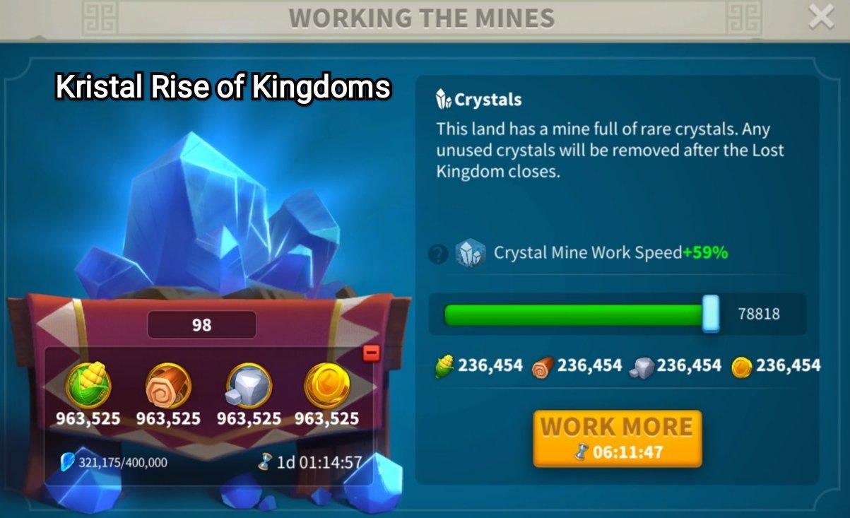 kristal rise of kingdoms crystal tech