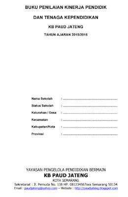Buku Penilaian Kinerja Tenaga Pendidik & Kependidikan PAUD Terbaru