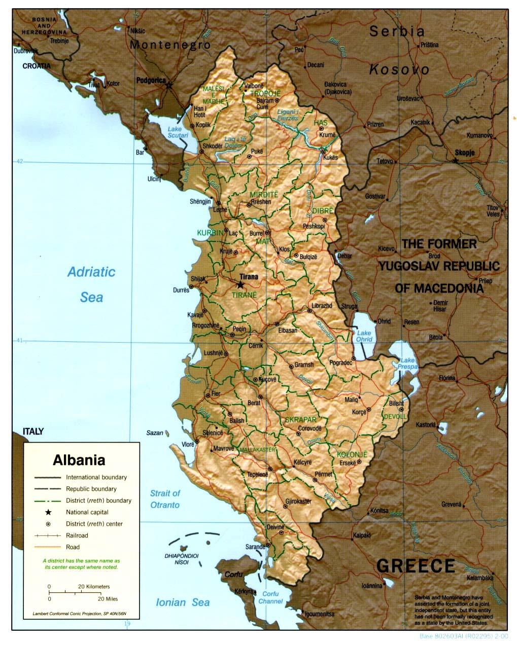 Albânia | Mapas Geográficos da Albânia