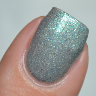 blue gray nail polish