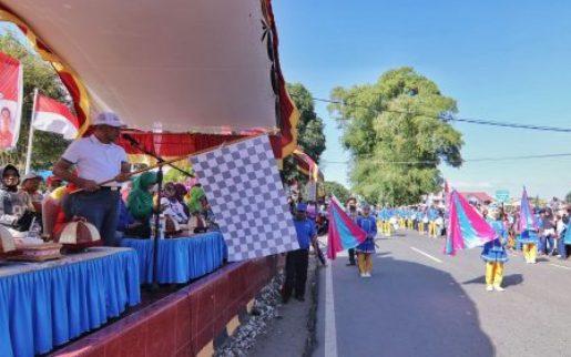 Barisan OPD Pemkab Kep. Selayar, Ikut Meriahkan Lomba Baris Indah HUT RI ke 73