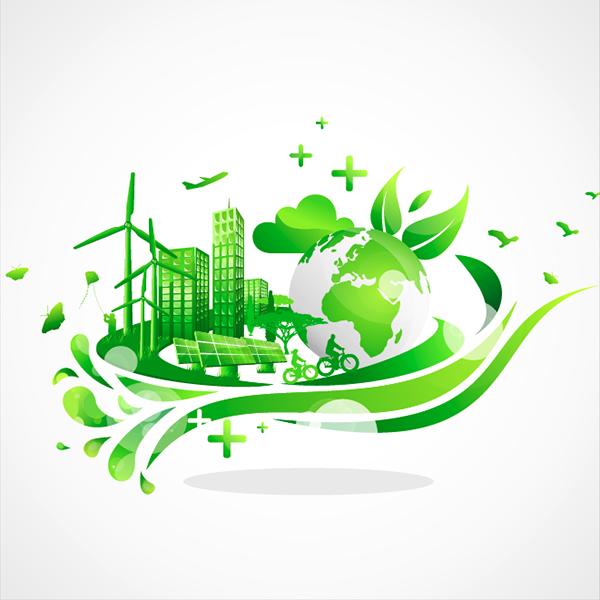 Ciudad sostenible - Vector
