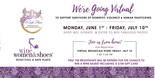 Join Wine, Women & Shoes July 10 to benefit A Safe Place!