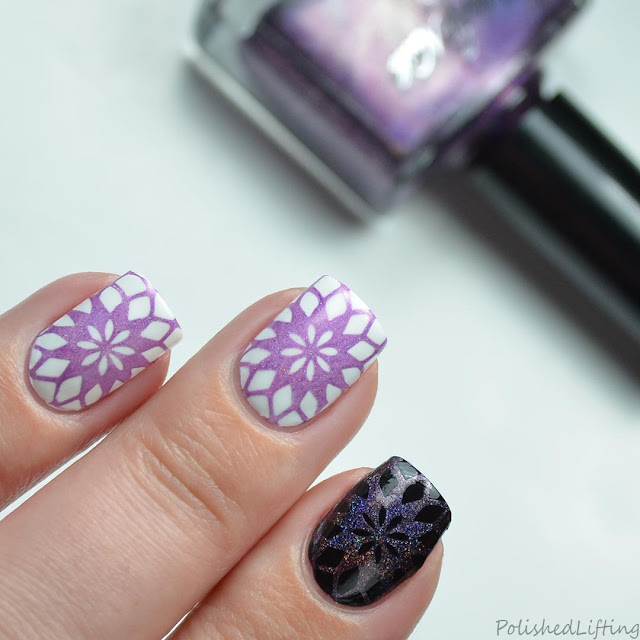 purple stamping polish
