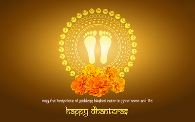 Happy Dhanteras Wishes in Hindi Wallpaper