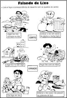 Meio ambiente falando de lixo
