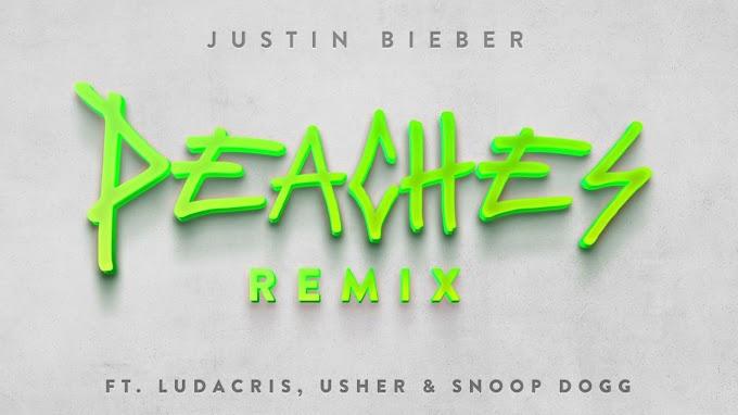 """Justin Bieber estrena el remix de """"Peaches"""" junto a Ludacris, Usher y Snoop Dog"""