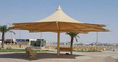 تنفيذ اعمال مشاريع مظلات حدائق
