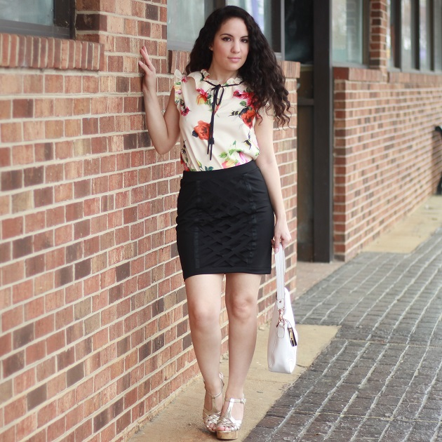 Floral Print Blouse for Spring