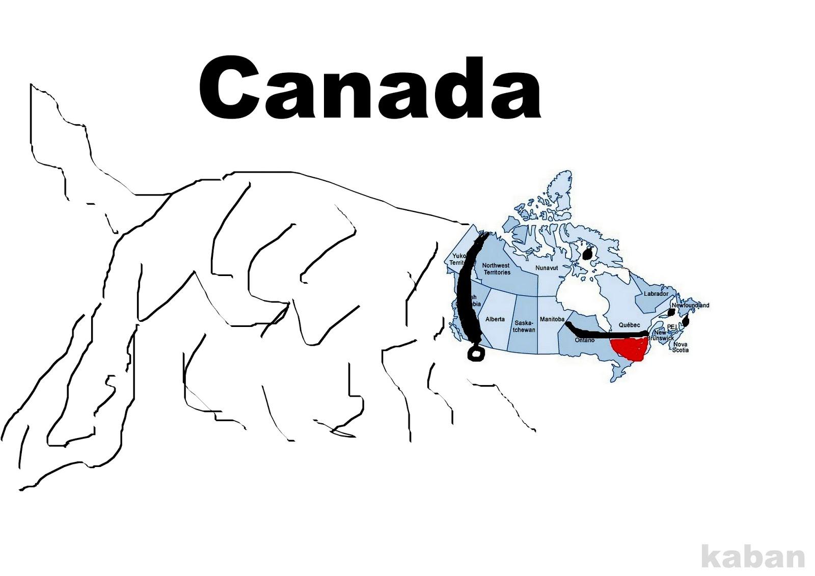 Funny Map Of Canada Funny maps: Funny map of Canada