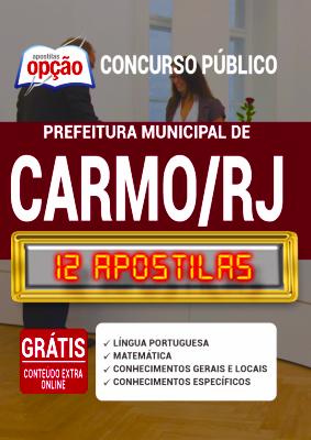 Apostila Concurso Prefeitura de Carmo RJ 2020 PDF Edital Online Inscrições