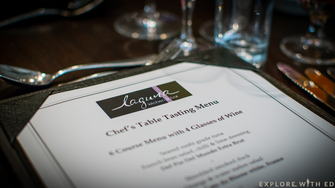Laguna Kitchen & Bar, Chef's Table Menu, Park Plaza Cardiff