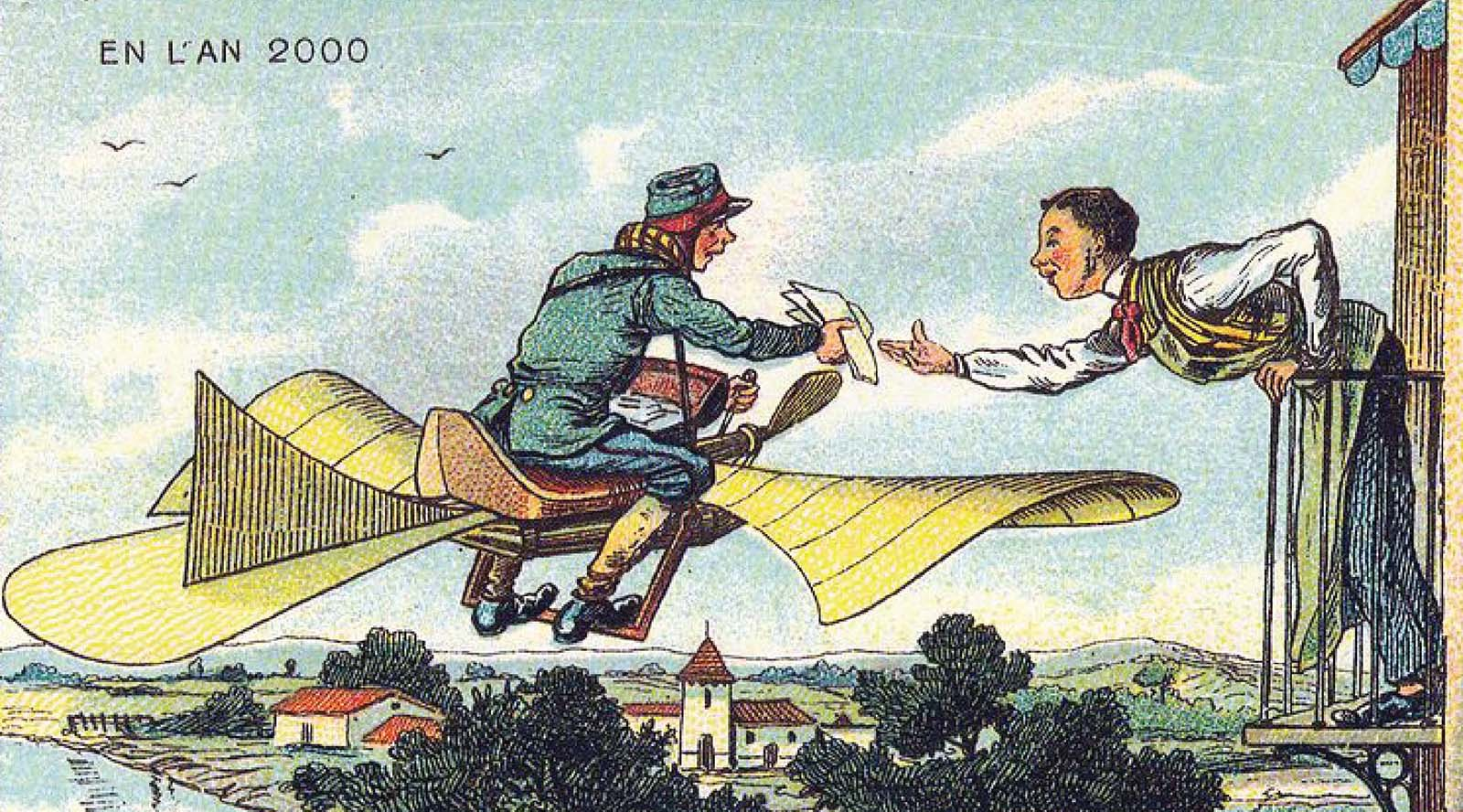 The 19th-century postcards of Jean-Marc Côté that predicted the world in the Year 2000