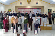 Peduli Covid-19, Kodim 0602/Serang bersama Yayasan Buddha Tzu Chi Salurkan Bansos