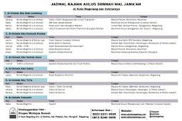 Jadwal Kajian Ahlus Sunnah di Kabupaten Magelang