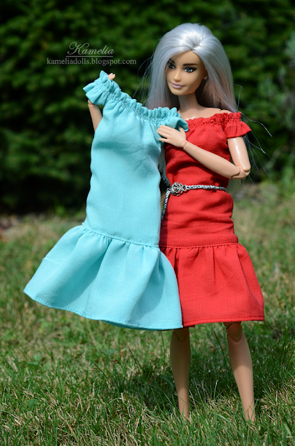 Summer dress for doll in 1/6 scale