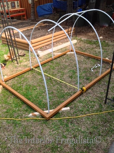 Mini Greenhouses for raised beds top supports