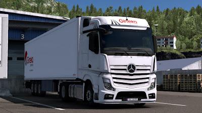 Girteka Logistic Mercedes Actros MP4 & Schmitz SK.o Trailer