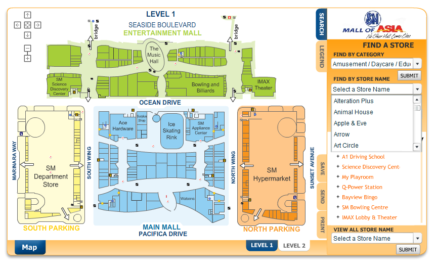 Sm Mall Of Asia Map Cinemergente