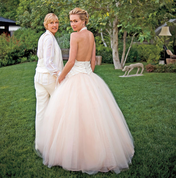 Portia De Rossi Wedding Gown: Ellen DeGeneres And Portia De Rossi