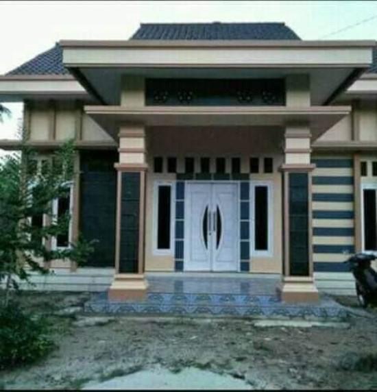 rumah minimalis kombinasi hitam dan coklat