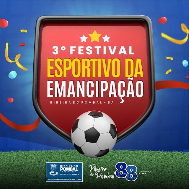 Prefeitura de Ribeira do Pombal divulga programação esportiva em homenagem ao aniversário da cidade