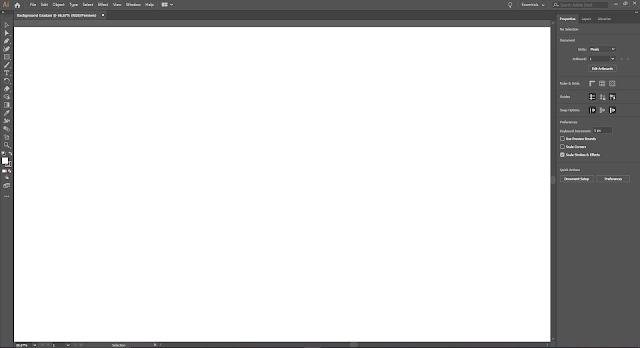 Tampilan workspace Adobe Illustrator