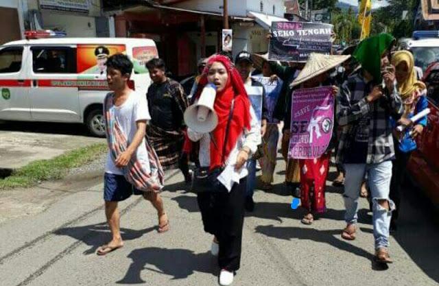 Puluhan Mahasiswa di Palopo Tolak Pembangunan PLTA dan Kriminalisasi Petani