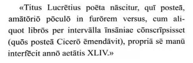 De Rerum Natura Passage