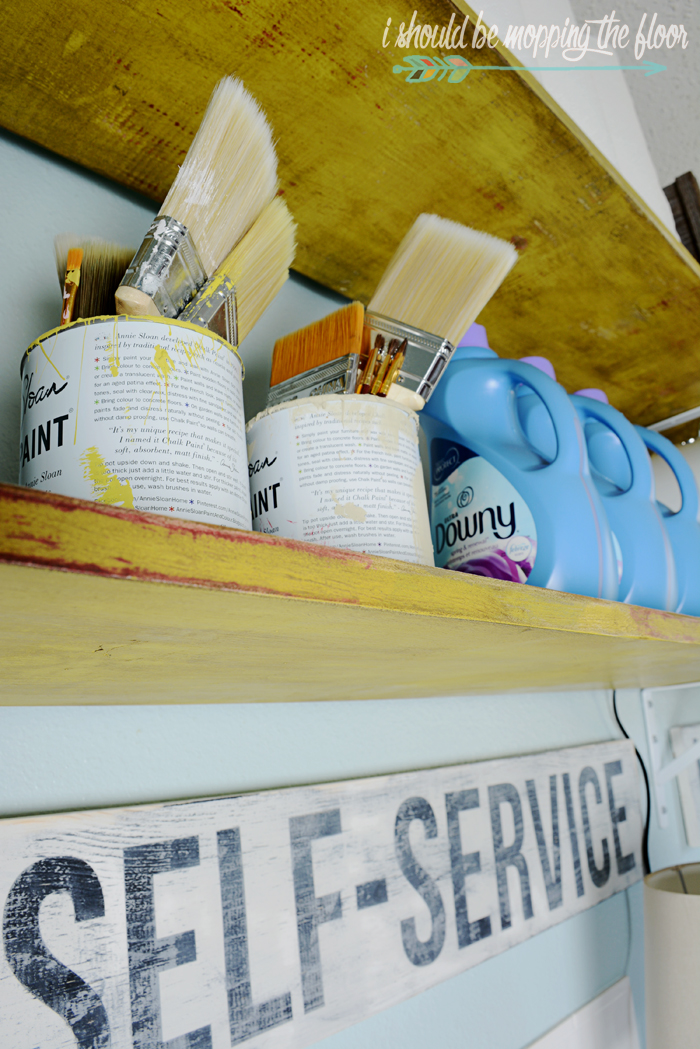 Layering Paint for a Vintage Finish: using several different colors of paint and a wax puck for a very vintage look.