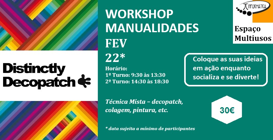 "Workshop Manualidades ""Dia da mãe"" – Setúbal"