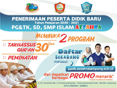 ppdb pg tk sd smp islam azzahra