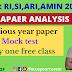 Odia paper analysis for RI, SI, ARI, OTHER STATE GOVT. JOB