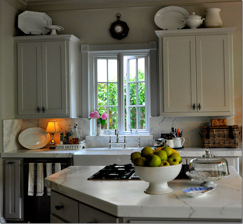 Decorations For Above Kitchen Cabinets: Painted Gray Kitchen Cabinets