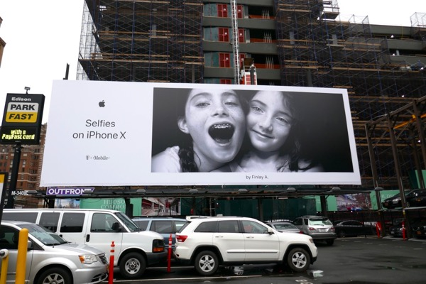 Selfies on iPhone X Finlay A billboard