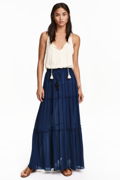 H and M Tiered Crepe Skirt