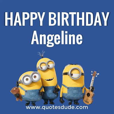 Happy birthday Angeline card.