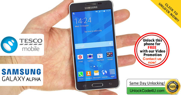 Factory Unlock Code Samsung Galaxy Alpha from Tesco