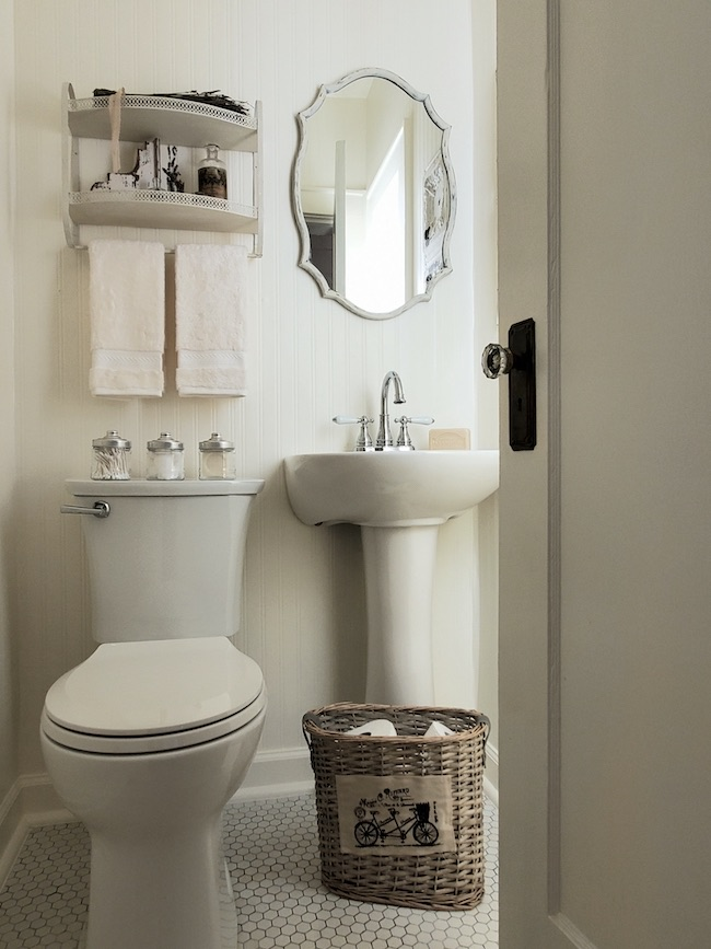 ORC Week 6 Reveal: 1920's Tiny Powder Room Revival by Follow the Yellow Brick Home featured at Pieced Pastimes