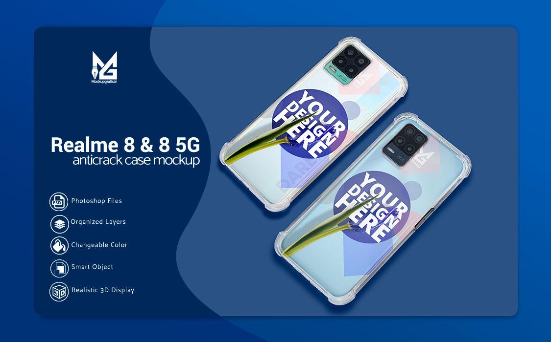 Mockup Case Anticrack Realme 8 dan 8 5G