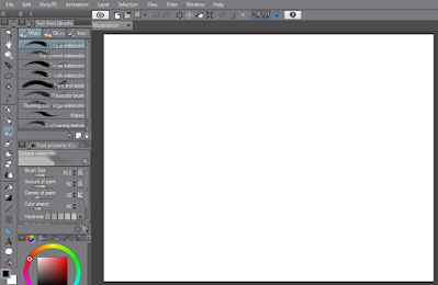 membuka file baru clip studio paint