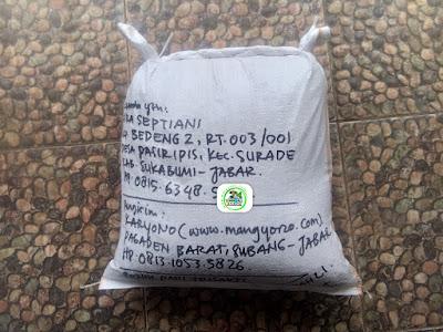 Benih padi yang dibeli   FIRA SEPTIANI Sukabumi, Jabar.  (Setelah packing karung ).