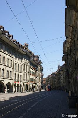 Marktgasse una delle arterie principali di Berna