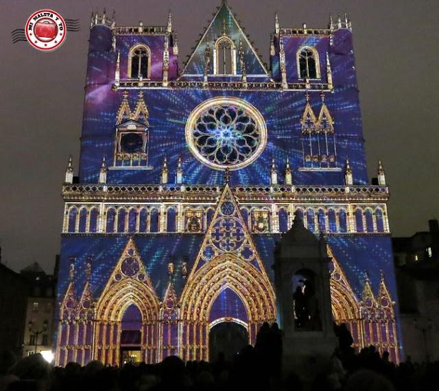 Fête des lumières Lyon - 2014 Catedral
