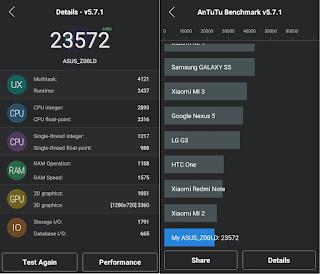 ASUS Zenfone 2 Laser Antutu Benchmark