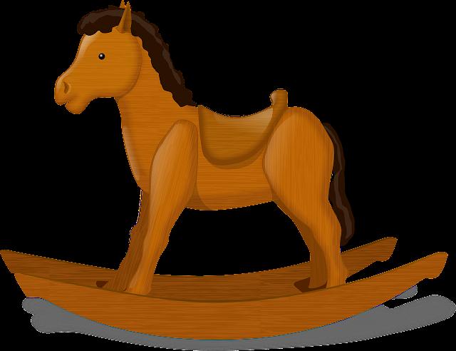 Cute Child Rocking Horse Child's Toy Horse Decorative