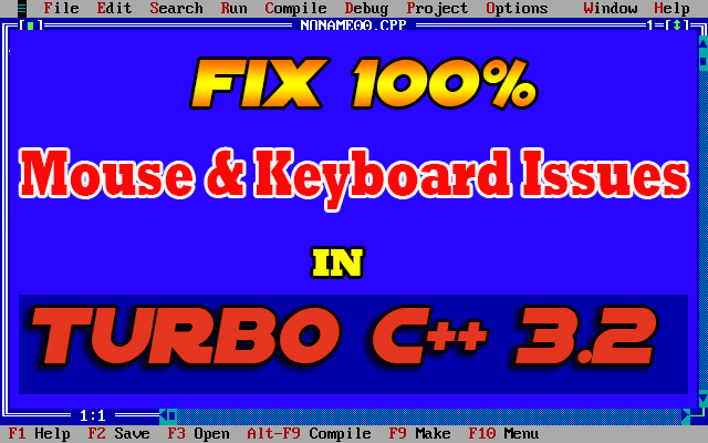 How to solve Keyboard and Mouse common issues in Turbo C++ - All