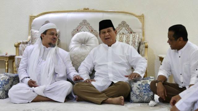 Prabowo: Habib Rizieq Sudah Moderat